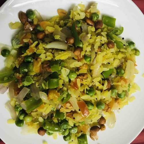 Poha with Greens