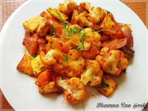 Pan roasted Paneer and Veggies