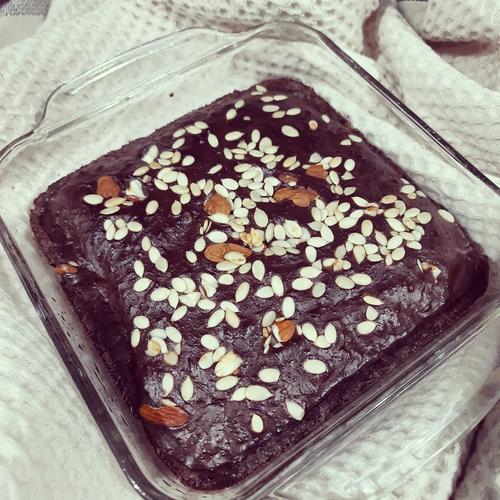 Eggless Protein Brownie/cake