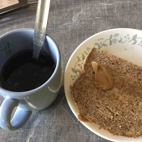 Snack Black coffee , Ezekeil bread & Almond butter