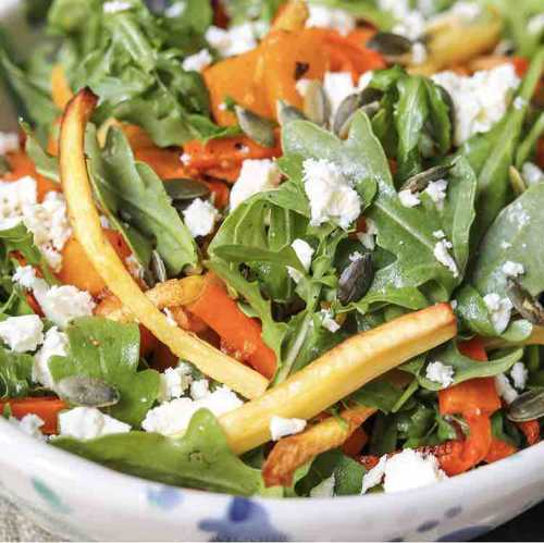Roasted Root Veg Salad with Feta
