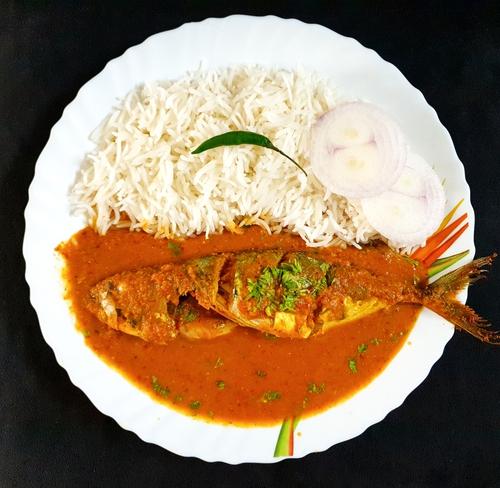 Mackerel (Bangda) Curry Rice