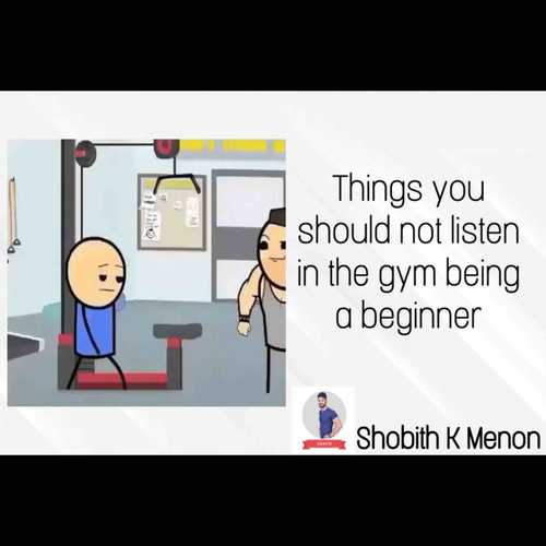 What you should not do in the gym being a beginner !!