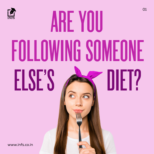 Are you following someone else's diet?