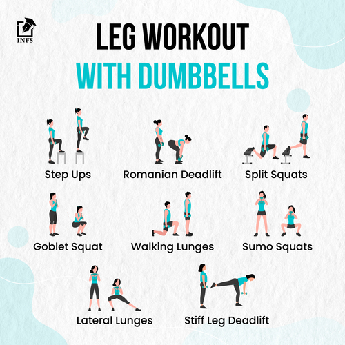 Leg workout with Dumbbells