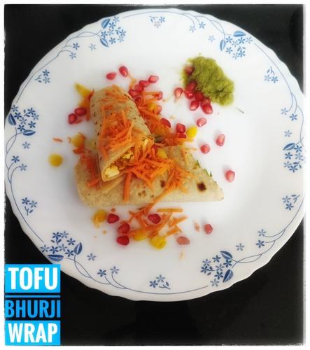 Tofu Bhurji Wrap