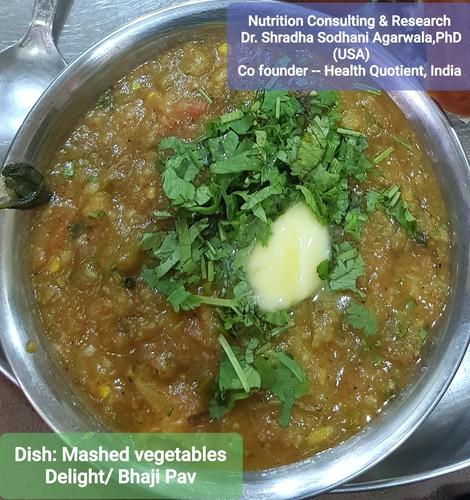 bhaji or mashed vegetables