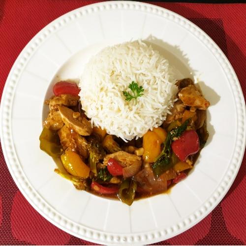 Stir fry Chicken & Veggies and Rice