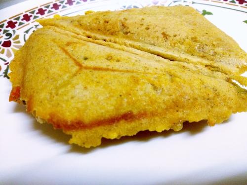 Crispy moong dal sandwich