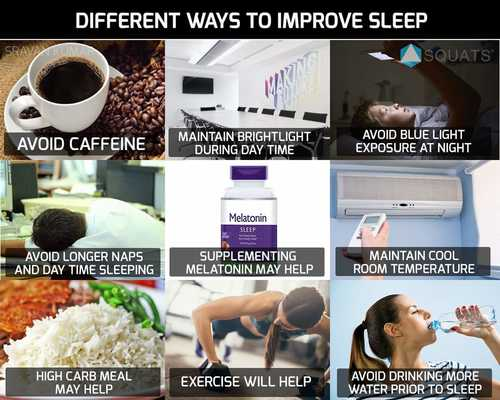 Different ways to improve sleep