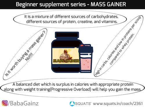 Beginner supplement series Part III - MASS Gainer