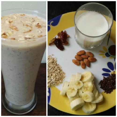 Oats, Dates and Banana Smoothie