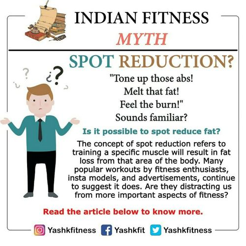 Indian fitness myth: spot reduction? 👎 or 👍