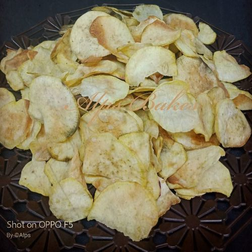 sweet potato chips in Microwave