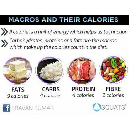 Macros and their calories