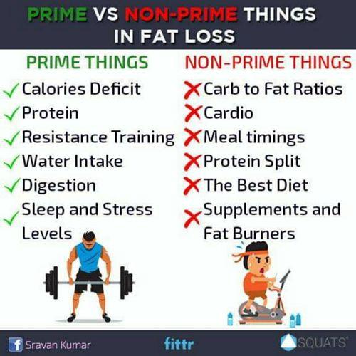 Prime vs Non-Prime things in fat loss