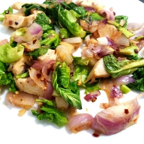 chicken with greens