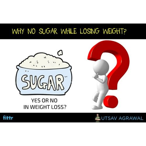 no sugar while losing