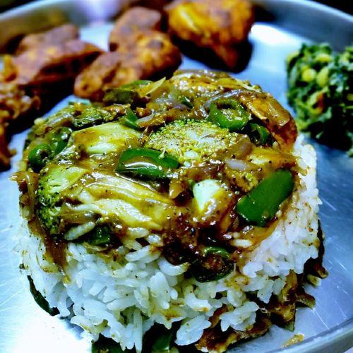 Broccoli n Chicken Gravy with Rice