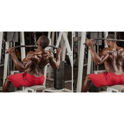 Lat pull down front vs behind the head