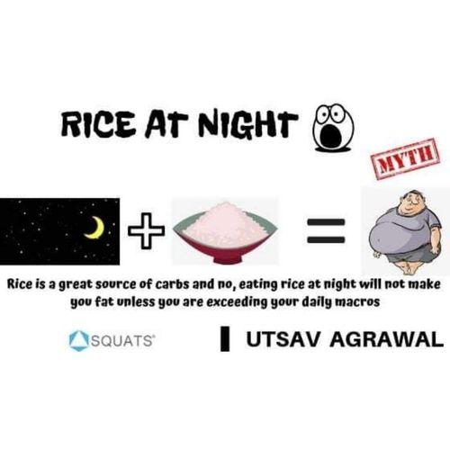Eating rice at night