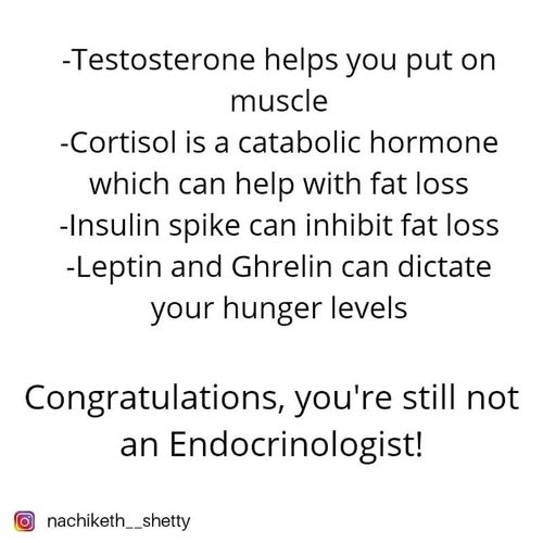 Don't try to be an endocrinologist!