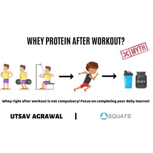 Myth busting: Whey protein just after workout