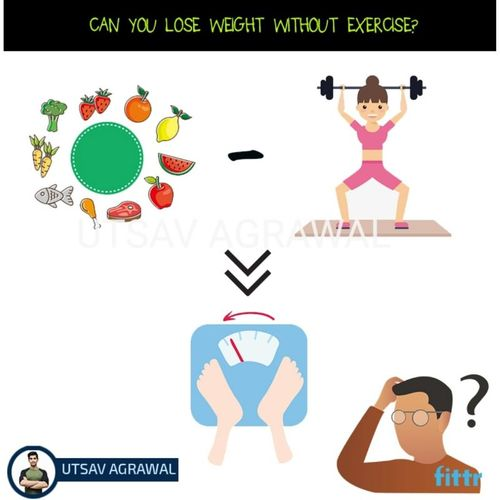 Can you lose weight without exercise ?
