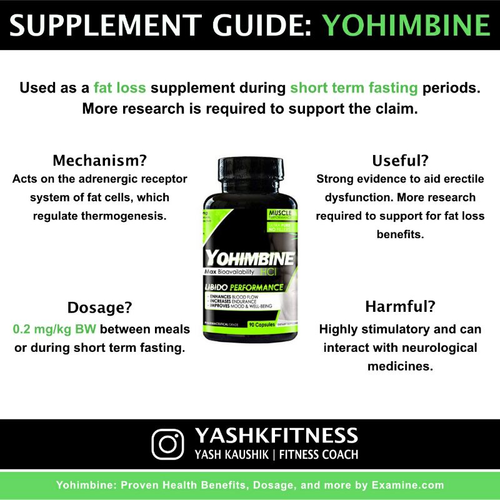 Does Yohimbine helps in fat loss? 🔥🔥