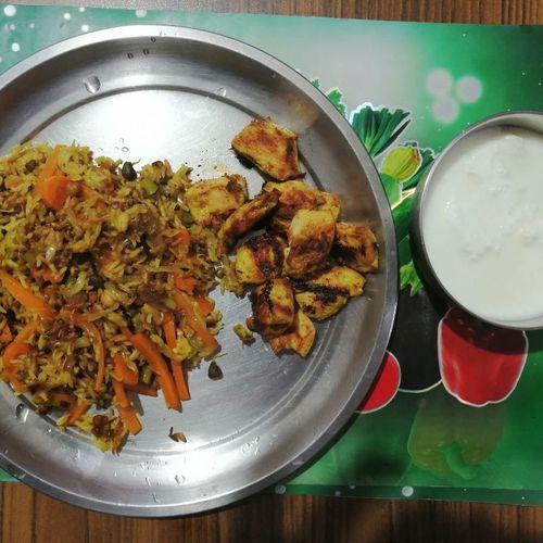 Chicken breast  & carrot pulao