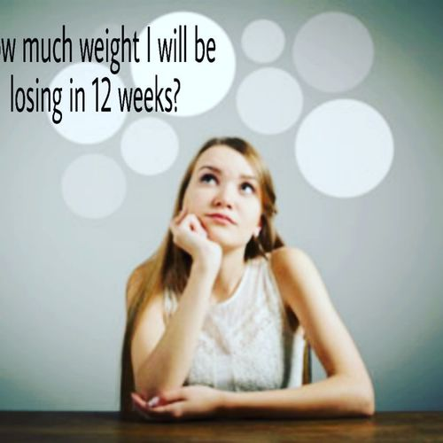 """How much weight I will be losing in 12 weeks?""🤔🤔"