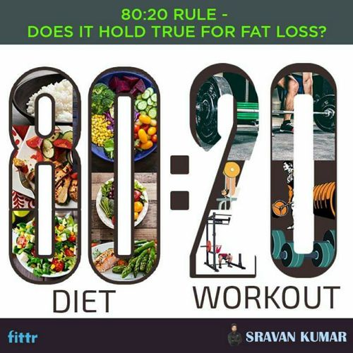 80:20 rules – does it hold true for fat loss?