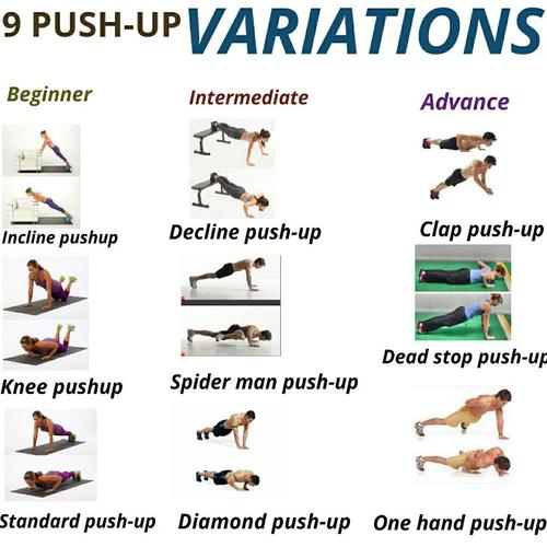 9 PUSH-UPS VARIATIONS
