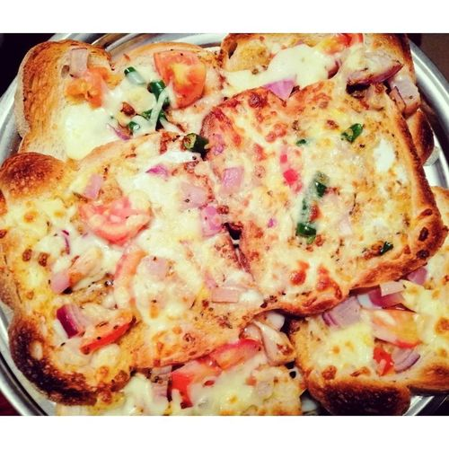 Bread Egg Cheese Pizza