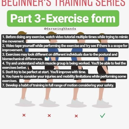BEGINNERS TRAINING SERIES  PART 3- THE IDEAL EXERCISE FORM!