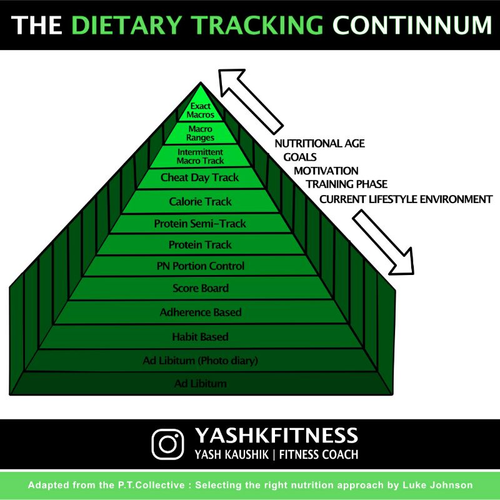 Diet tracking continuum