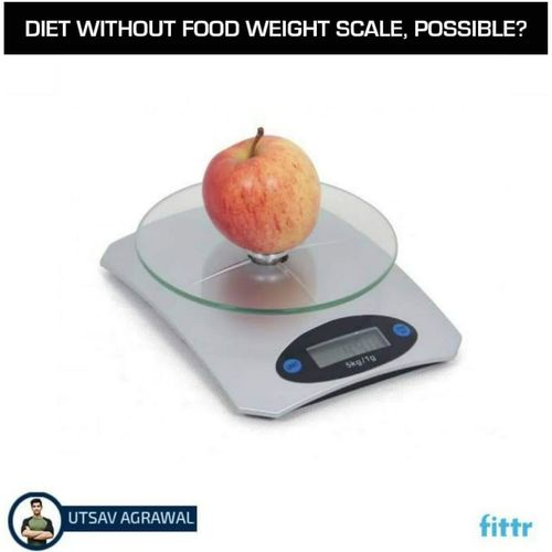 Diet without the food weighing scale ?