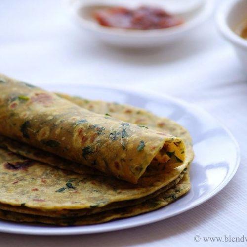Methi Chicken Paratha