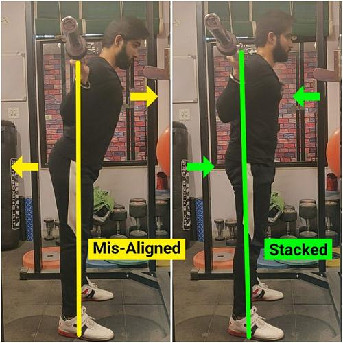 Joints Stacked V/S Mis-Aligned (SQUAT) 🏋️🏋️