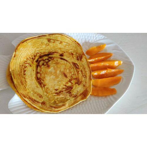 mango protein pancakes