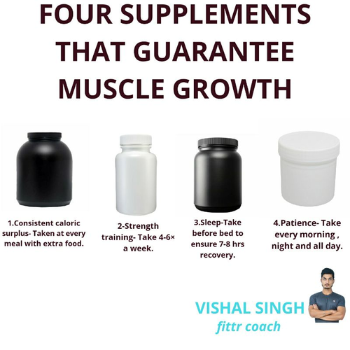 """TOP FOUR SUPPLEMENTS THAT GUARANTEE MUSCLE GROWTH"""