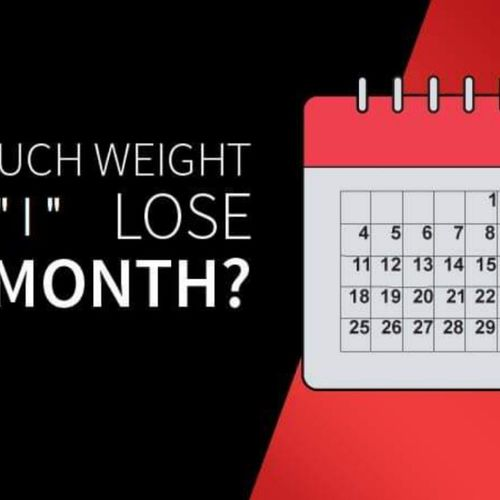 How much weight loss in a month ?