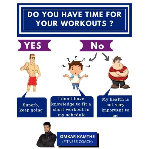 DO YOU HAVE TIME FOR YOUR WORKOUTS ?
