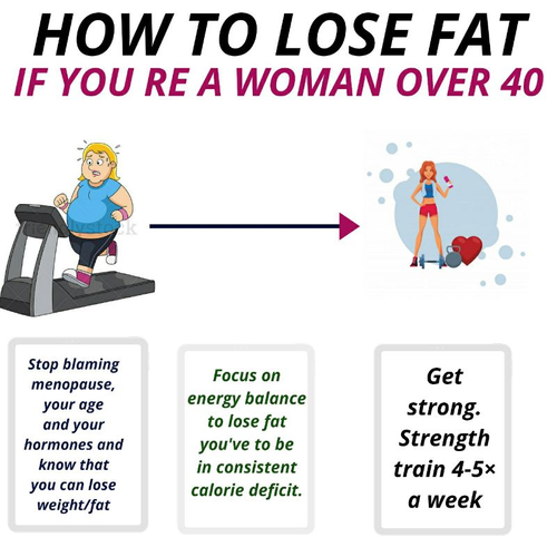 HOW TO LOSE WEIGHT/FAT IF YOU'RE A WOMAN OVER 40??