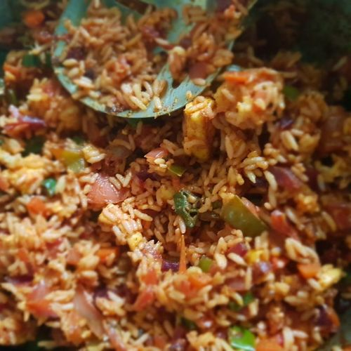 cheesy panner fried rice