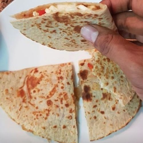 Cheese and Paneer Quesadilla