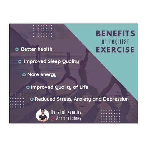 BENEFITS OF EXERCISE √