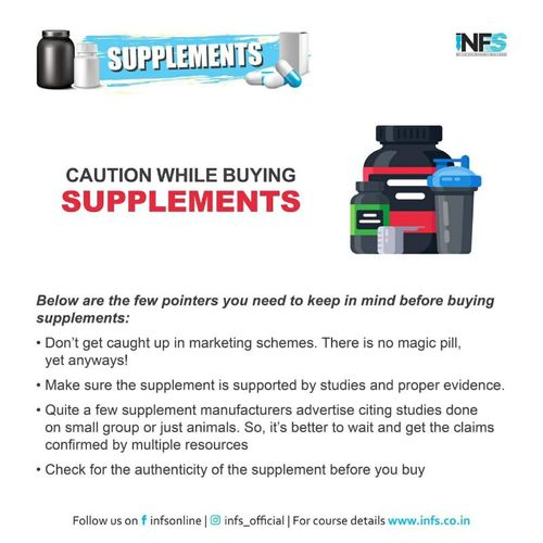 Caution While Buying Supplements