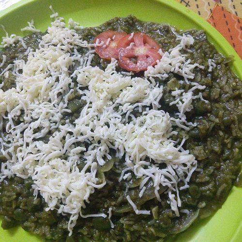 palak cheese rice