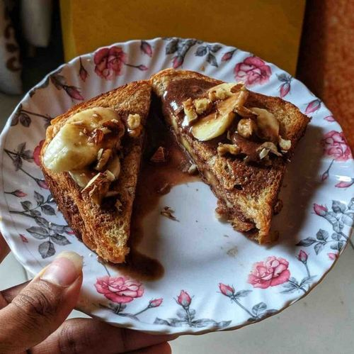 Whey and Banana sandwich